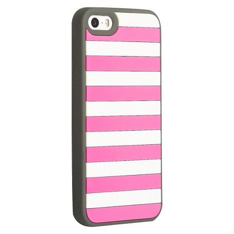 Agent18 Stripe Vest Case for iPhone®5 - Pink/White (P5STR/CG)