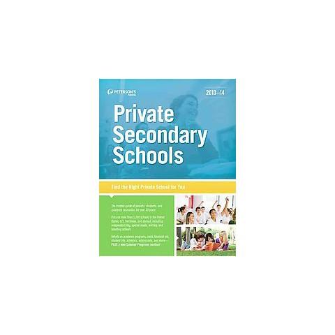 Private Secondary Schools 2013-14 (Paperback)