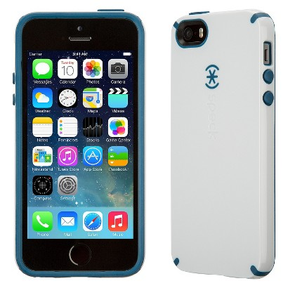 Speck CandyShell Case for iPhone® 5 - White/Deep Sea Blue