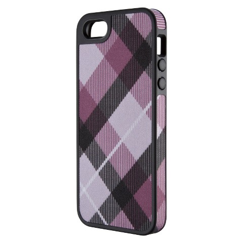 Speck FabShell Case for iPhone® 5 - MegaPlaid Mulberry/Black