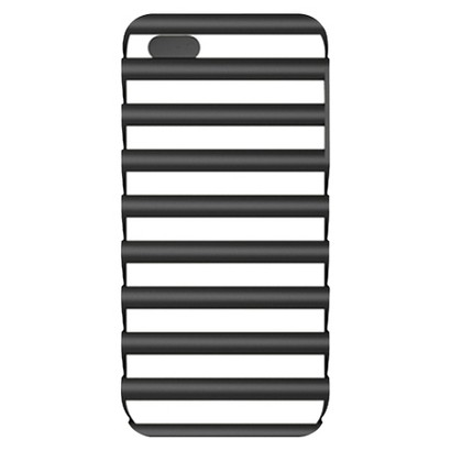 iLuv Pulse l Protection Case for iPhone 5/5s - Black/White (ICA7T325BLK)