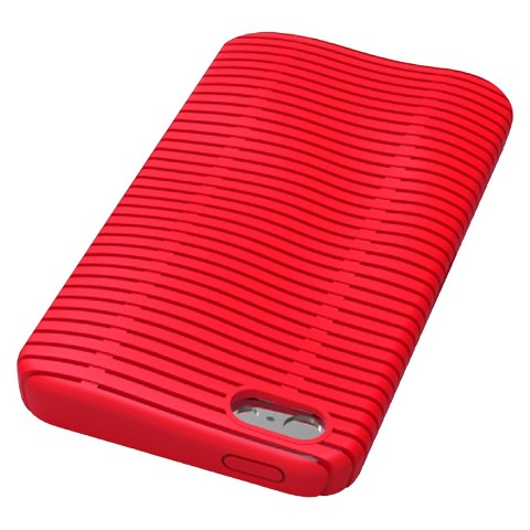iLuv Topog l Protection Case for iPhone5 - Red (ICA7T324RED)