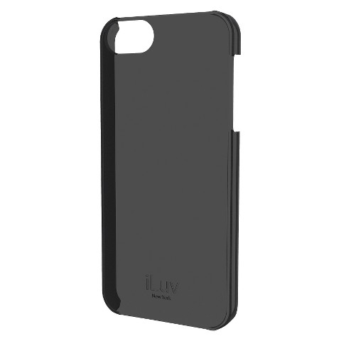iLuv Overlay l Hardshell Case for iPhone 5/5s - Black (ICA7H305BLK)