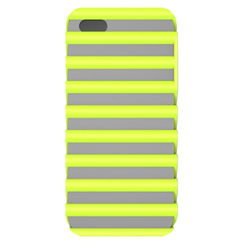 iLuv Pulse l Protection Case for iPhone 5/5s - Gray/Green (ICA7T325GRN)