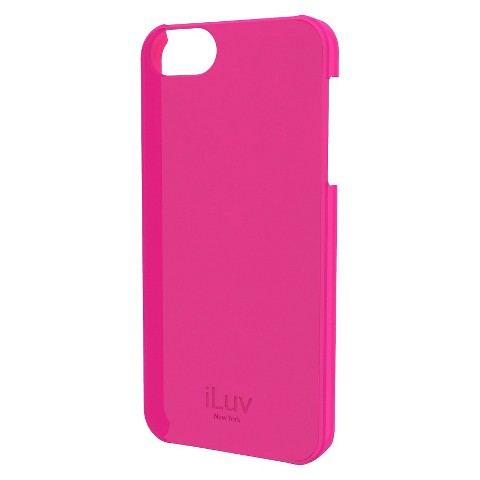 iLuv Overlay l Hardshell Case for iPhone 5/5s - Pink (ICA7H305PNK)