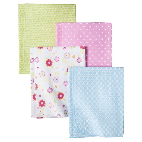 Circo® 4pk Flannel Receiving Blankets - Woodland Wonders