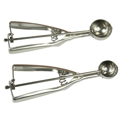 Fox Run Set of 2 Scoops - Silver