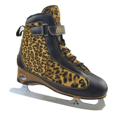 American Ladies Softboot Figure Skate - Grey and Plum