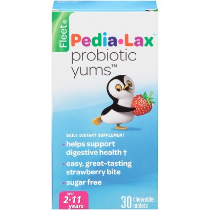 Children's Pedialax Probiotic Yums Chewable Tablets - 30 Count