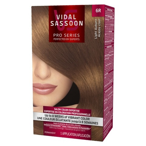 Vidal Sassoon Pro Series Salon Hair Color - Light Auburn (color 6R)