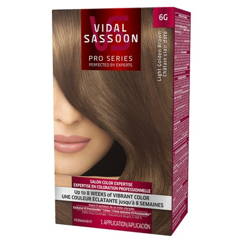 Vidal Sassoon Pro Series Salon Hair Color - Light Golden Brown (color 6G)