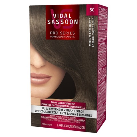 Vidal Sassoon Pro Series Salon Hair Color - Medium Cool Brown (color 5C)