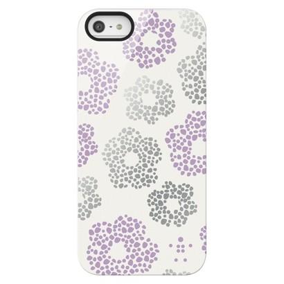 Belkin Shield Pansies Case for iPhone5 - White/Purple (F8W172ttC00)