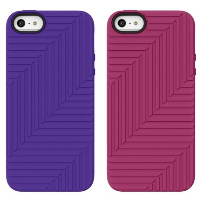 Belkin 2 Pack Flex Case for iPhone5 - Pink/Purple (F8W130ttC01-2)
