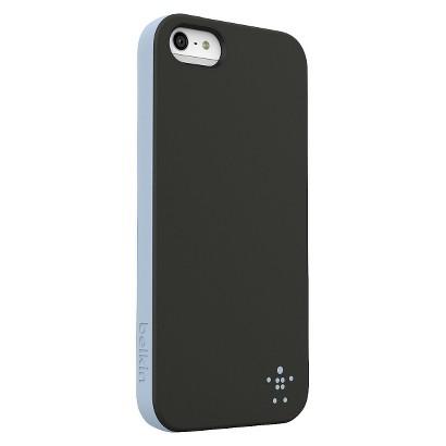 Belkin Grip Candy Opaque Case for iPhone5 - Black/Blue (F8W152ttC00)