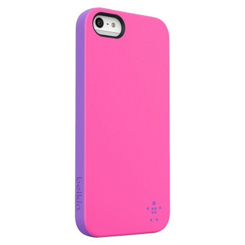 Belkin Volta Grip Candy Opaque Case for iPhone5 - Pink/Purple (F8W152ttC07)