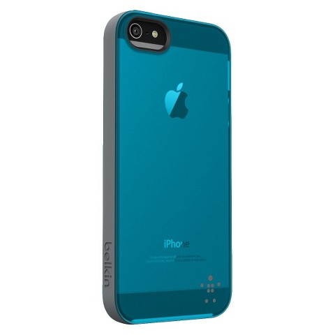 Belkin Grip Candy Sheer Case for iPhone5 - Blue/Gray (F8W138ttC05)