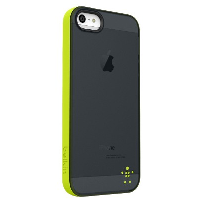 Belkin Grip Candy Sheer Case for iPhone5 - Black/Green (F8W138ttC01)