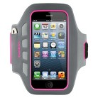 Belkin Dayglo Easefit Plus Armband for iPhone5 - Gray/Pink (F8W106ttC03)