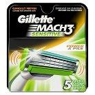Gillette Mach3 Sensitive Cartridges - 5 count