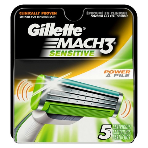 Gillette Mach3 Sensitive Cartridges - 5 count