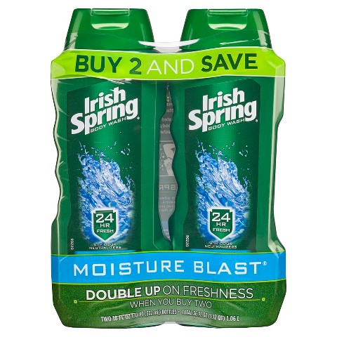 Irish Spring Moisture Blast Body Wash 15oz, Twin Pack
