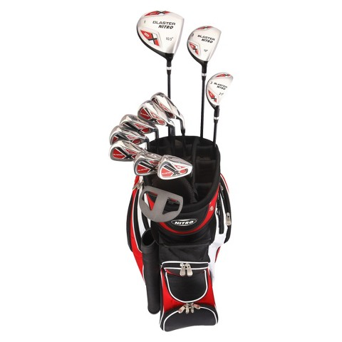 Nitro Golf Blaster Men's 15pc Golf Club Set - Black/Red