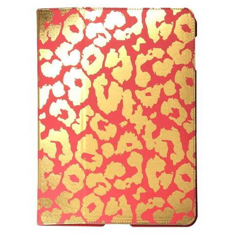 Mobilexpressions Leopard Folio for iPad 2/3 - Red/Gold (ME2004)