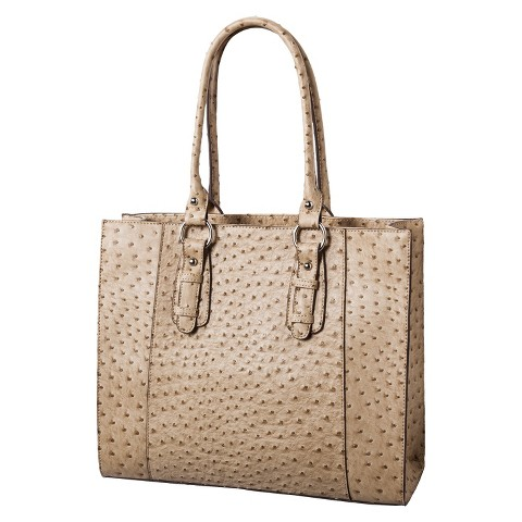 Merona® Ostrich Tote Bag - Tan/Natural