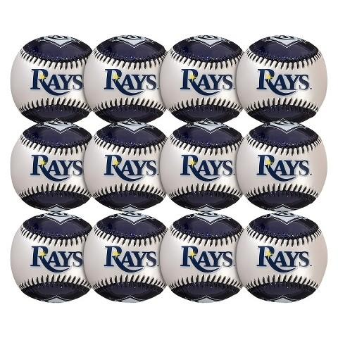 Franklin Sports Metallic Pearl Tampa Bay Rays Baseballs