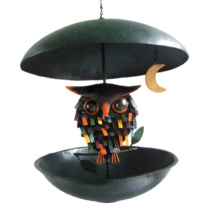 Spiky Owl with Moon Bird Feeder