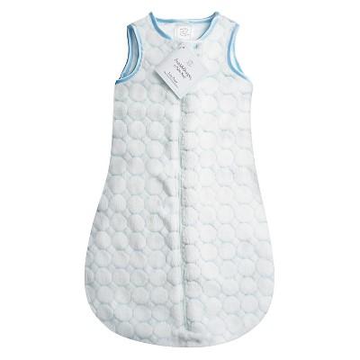 SwaddleDesigns® zzZipMe Sack® - Fuzzy Circles - Pastel Blue - 6-12 M