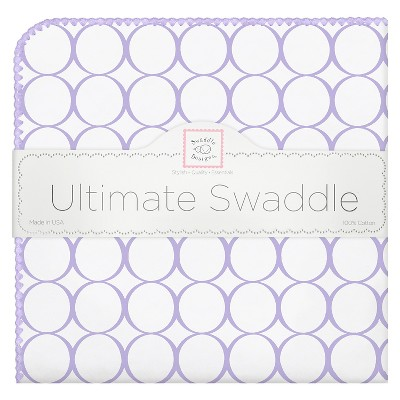 SwaddleDesigns® Ultimate Receiving Blanket - Mod Circles - Lavender