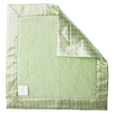 SwaddleDesigns® Fuzzy Baby Lovie® - Satin Binding - Kiwi