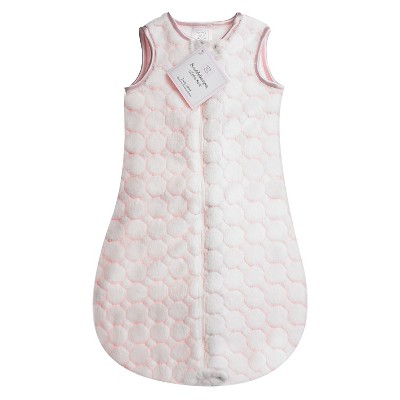 SwaddleDesigns® zzZipMe Sack® - Fuzzy Circles - Pastel Pink - 6-12 M