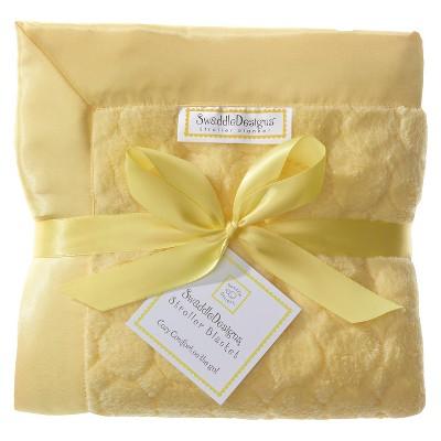 SwaddleDesigns® Fuzzy Stroller Blanket - Jewel Tones - Yellow