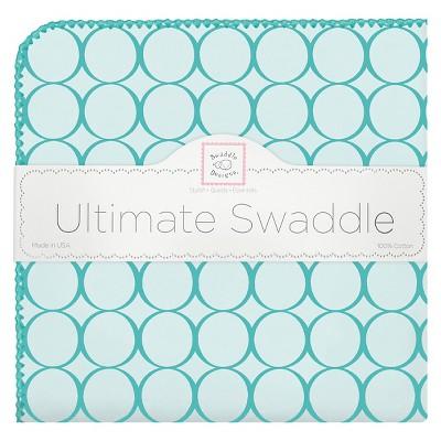SwaddleDesigns® Ultimate Receiving Blanket - Jewel Tones - Turquoise