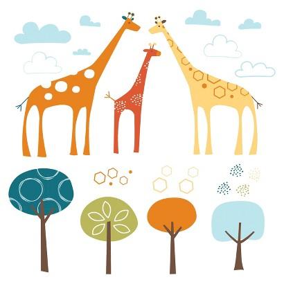 Skip Hop Wall Decals Giraffe Safari