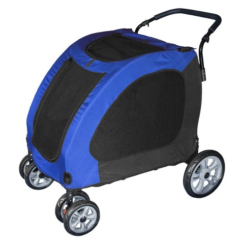 PET GEAR Blue Sky Expedition Pet Stroller, Blue
