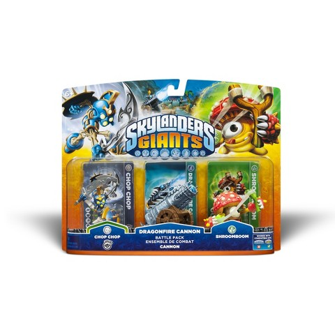 Skylanders Giants Battle Pack: Chop Chop / Dragonfire Canon / Shroombroom