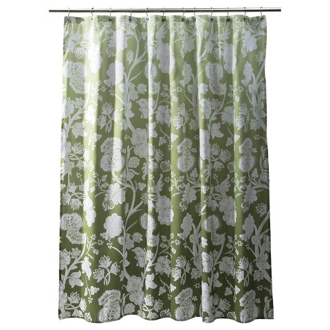 Threshold ™ Ombre Floral Shower Curtain  - Wasabi Green
