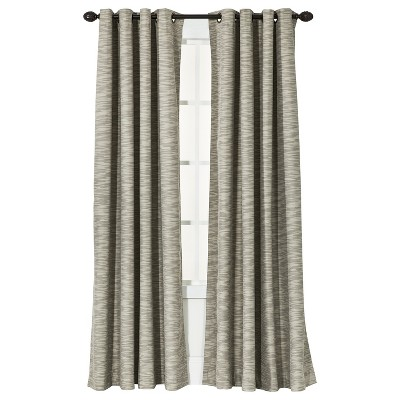 "Threshold™ Uptown Stripe Light Blocking Curtain Panel - Tan (54x84"")"