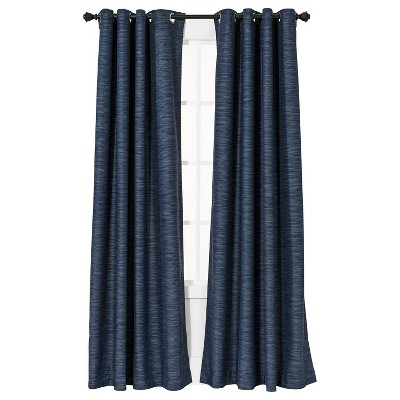 "Threshold™ Uptown Stripe Light Blocking Curtain Panel - Navy Blue (54x84"")"