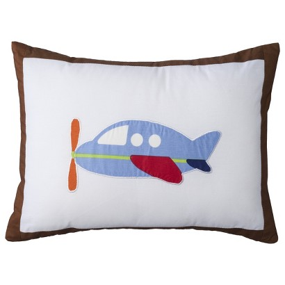 Bacati Transportation Plane Decorative Pillow