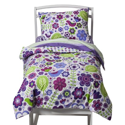 Bacati Botanical Purple 4pc Tddlr Set