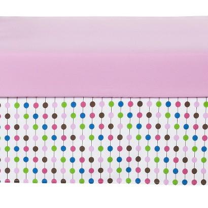 Bacati Botanical Pink Crib/Toddler Skirt