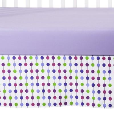 Bacati Botanical Purple Crib Skirt
