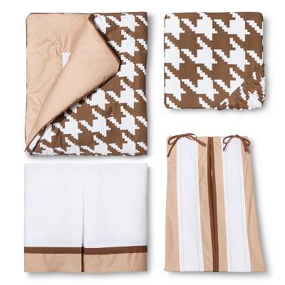Bacati Metro Khaki Crib Bedding Set - 6pc