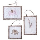 Sweet Jojo Designs Elephant Wall Hangings - Pink