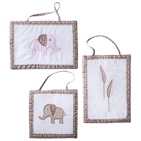 Sweet Jojo Designs Elephant Wall Hangings - Pink